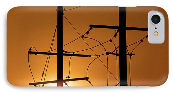 Electrical Power Lines IPhone Case by Don Spenner