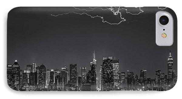 Electrifying New York City Bw Phone Case by Susan Candelario