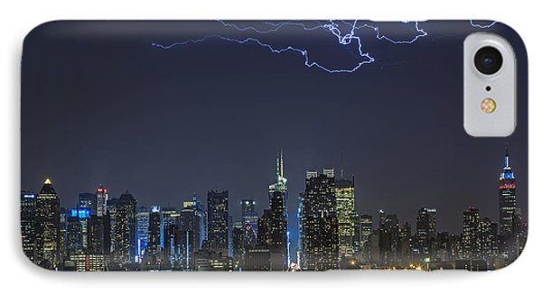 Electrifying New York City Phone Case by Susan Candelario
