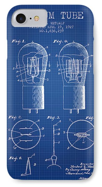 Electrode Vacuum Tube Patent From 1927 - Blueprint IPhone Case