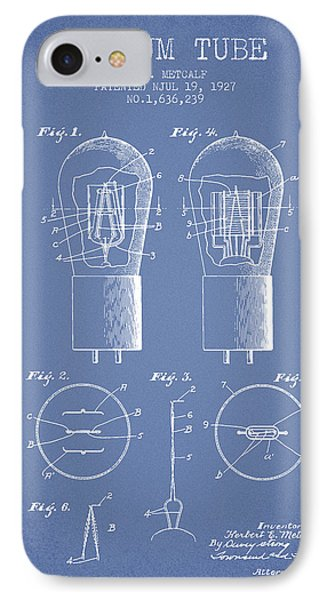 Electrode Vacuum Tube Patent From 1927 - Light Blue IPhone Case
