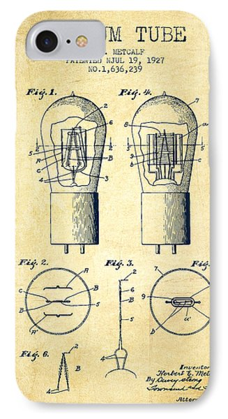 Electrode Vacuum Tube Patent From 1927 - Vintage IPhone Case