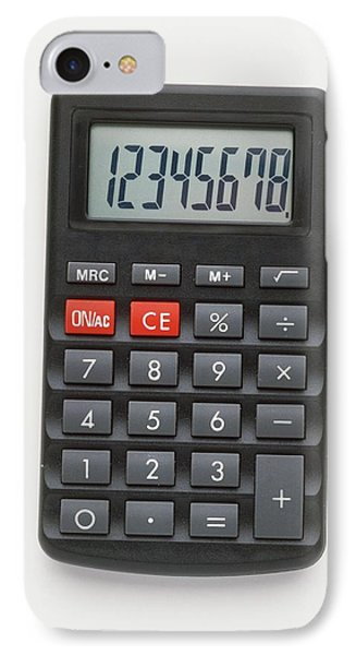 Electronic Calculator With Lcd Display IPhone Case by Dorling Kindersley/uig
