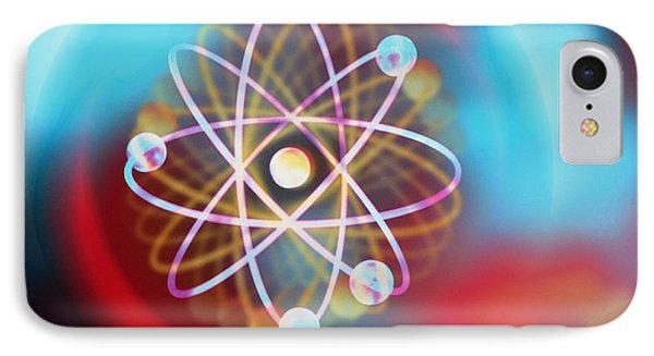Electrons Orbiting IPhone Case by M Kulyk SPL