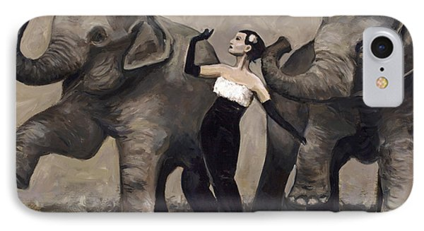 Elegance And Elephants IPhone Case by Billie Colson