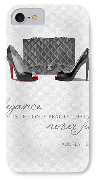 Elegance Never Fades Black And White IPhone Case by Rebecca Jenkins