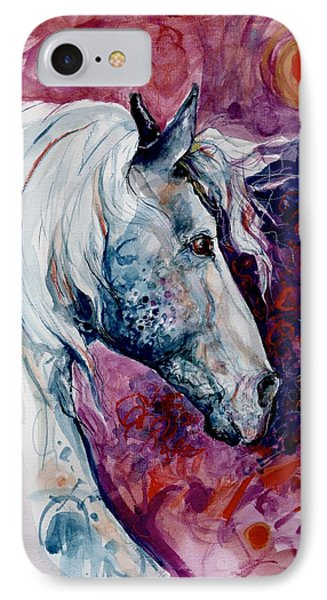 IPhone Case featuring the painting Elegant Horse by Mary Armstrong