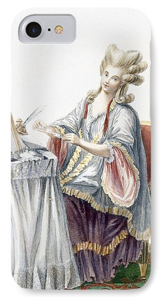 Elegant Lady At Her Dressing Table Phone Case by Pierre Thomas Le Clerc