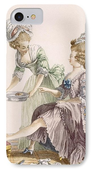 Elegant Lady Having Her Feet Washed Phone Case by Pierre Thomas Le Clerc