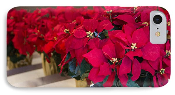IPhone Case featuring the photograph Elegant Poinsettias by Patricia Babbitt
