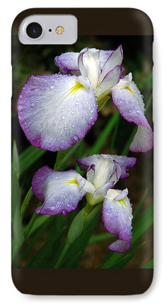 IPhone Case featuring the photograph Elegant Purple Iris by Marie Hicks