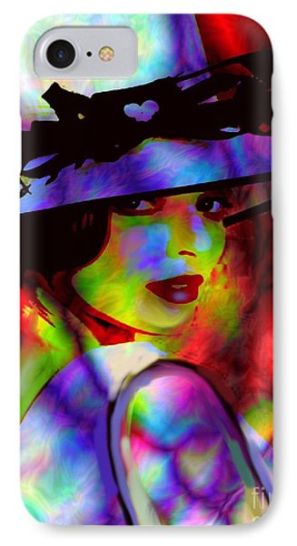 Elegant Woman In Shade IPhone Case