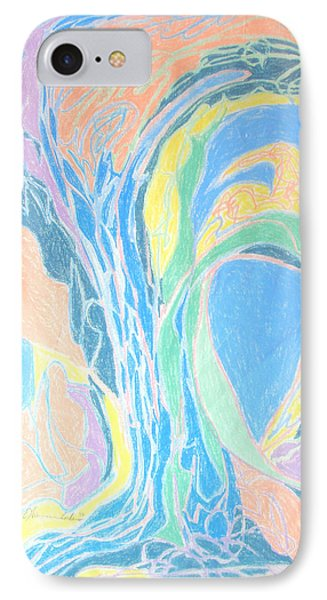 IPhone Case featuring the painting Elegy To A Tree by Esther Newman-Cohen