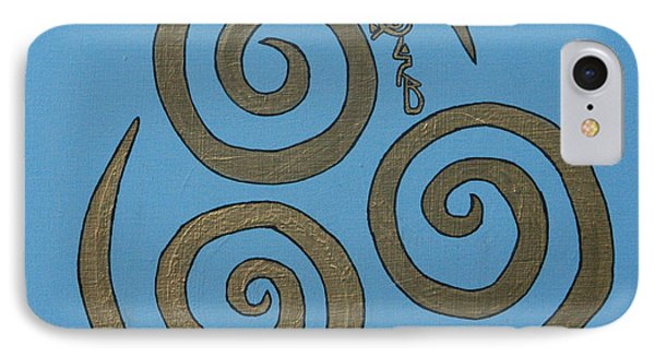 IPhone Case featuring the painting Element Of Air In Cy Lantyca by Cyryn Fyrcyd