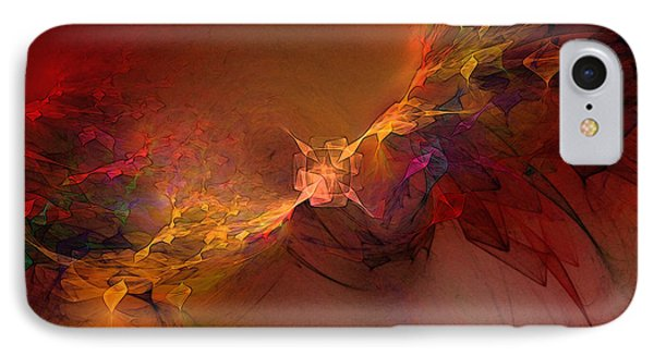 Elemental Force-abstract Art IPhone Case by Karin Kuhlmann