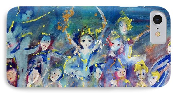 Elementals On The Beach Ballet Phone Case by Judith Desrosiers
