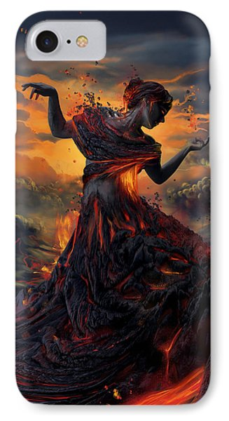 Elements - Fire IPhone 7 Case by Cassiopeia Art