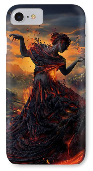 Elements - Fire IPhone Case by Cassiopeia Art
