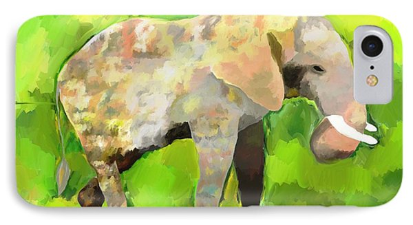 IPhone Case featuring the painting Elephant 4 by Jeanne Fischer