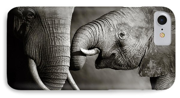 Elephant Affection IPhone 7 Case by Johan Swanepoel