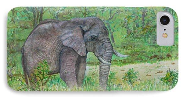 Elephant At Kruger Phone Case by Caroline Street