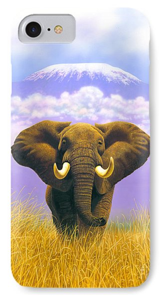 Elephant At Table Mountain IPhone Case by MGL Studio - Chris Hiett