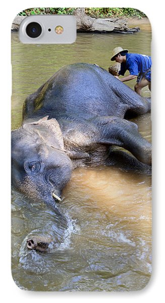 Elephant Bath IPhone Case