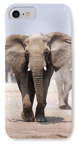 Elephant Bathing IPhone Case by Johan Swanepoel