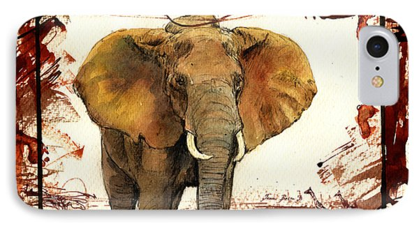 Elephant Blood Safari IPhone Case by Juan  Bosco