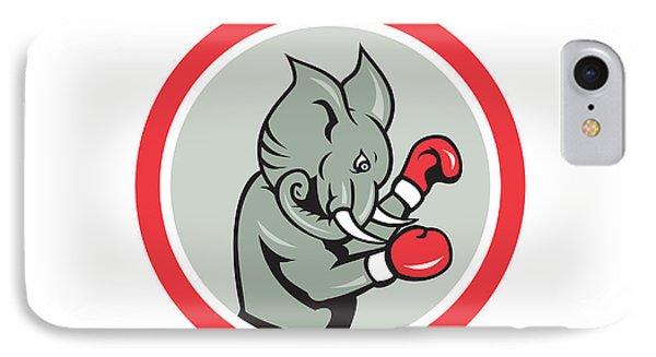 Elephant Boxer Boxing Circle Cartoon Phone Case by Aloysius Patrimonio