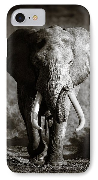 Elephant Bull IPhone 7 Case by Johan Swanepoel