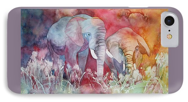 Elephant Duo IPhone Case by Nancy Jolley