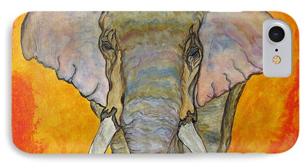 IPhone Case featuring the painting Elephant by Ella Kaye Dickey
