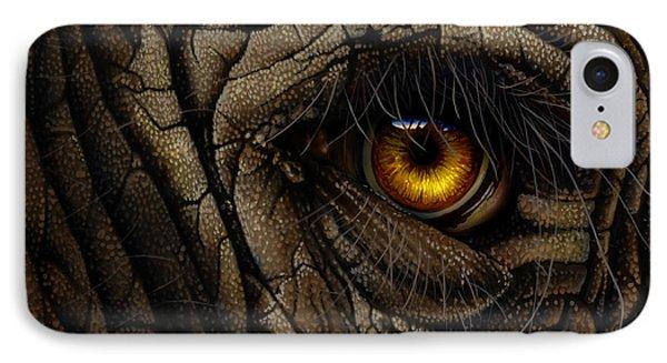 Elephant Eye Phone Case by Jurek Zamoyski