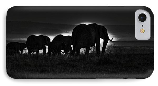 Elephant Family IPhone Case by Aidan Moran