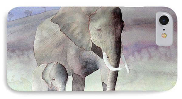 Elephant Family IPhone Case by Laurel Best