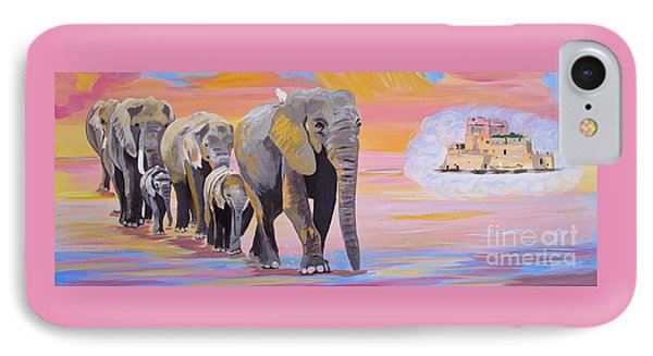Elephant Fantasy Must Open IPhone Case by Phyllis Kaltenbach