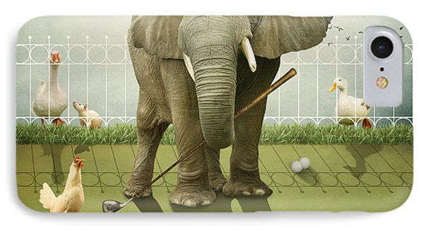 IPhone Case featuring the photograph Elephant Golf by Ethiriel  Photography