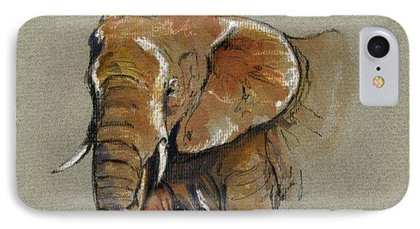 Elephant Head African IPhone Case by Juan  Bosco
