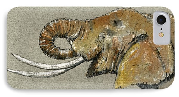 Elephant Head  IPhone Case by Juan  Bosco