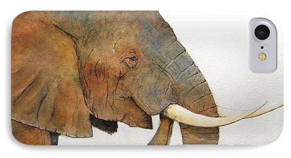 Elephant Head Study Phone Case by Juan  Bosco