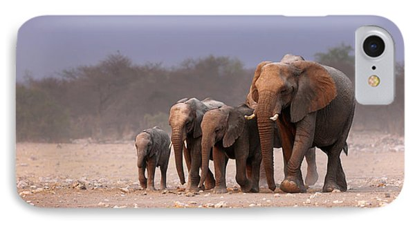 Elephant Herd IPhone Case by Johan Swanepoel