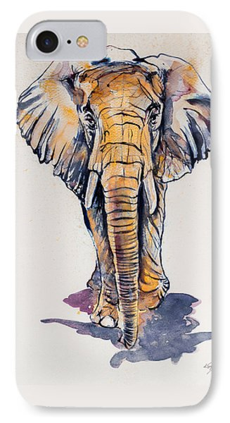 Elephant In Gold IPhone Case by Kovacs Anna Brigitta