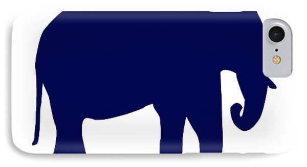 Elephant In Navy And White IPhone Case