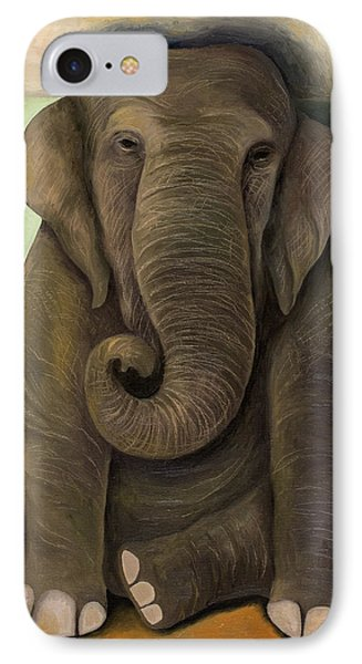 Elephant In The Room Wip Phone Case by Leah Saulnier The Painting Maniac