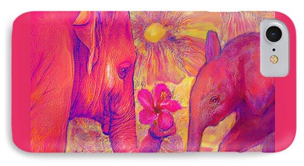Elephant Love Phone Case by Jane Schnetlage