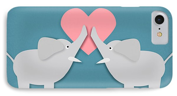 Elephant Love Phone Case by Sharon Dominick