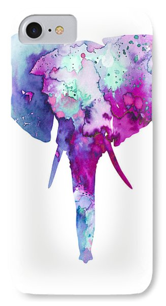 Elephant  IPhone Case by Watercolor Girl
