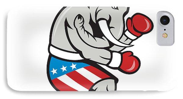 Elephant Mascot Boxer Boxing Side Cartoon Phone Case by Aloysius Patrimonio