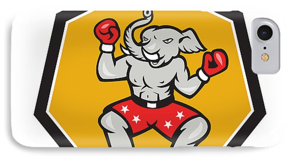 Elephant Mascot Boxer Cartoon Phone Case by Aloysius Patrimonio